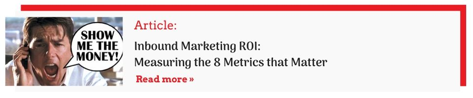 inbound marketing roi CTA