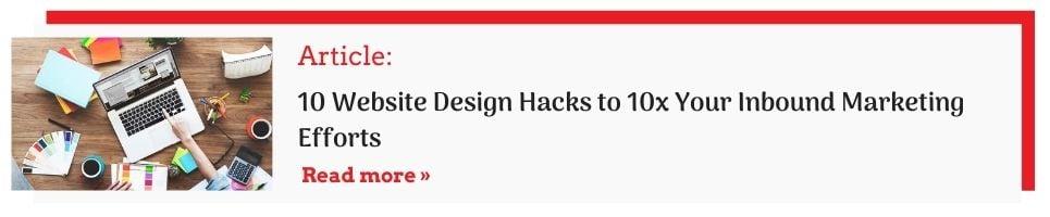website design hacks cta